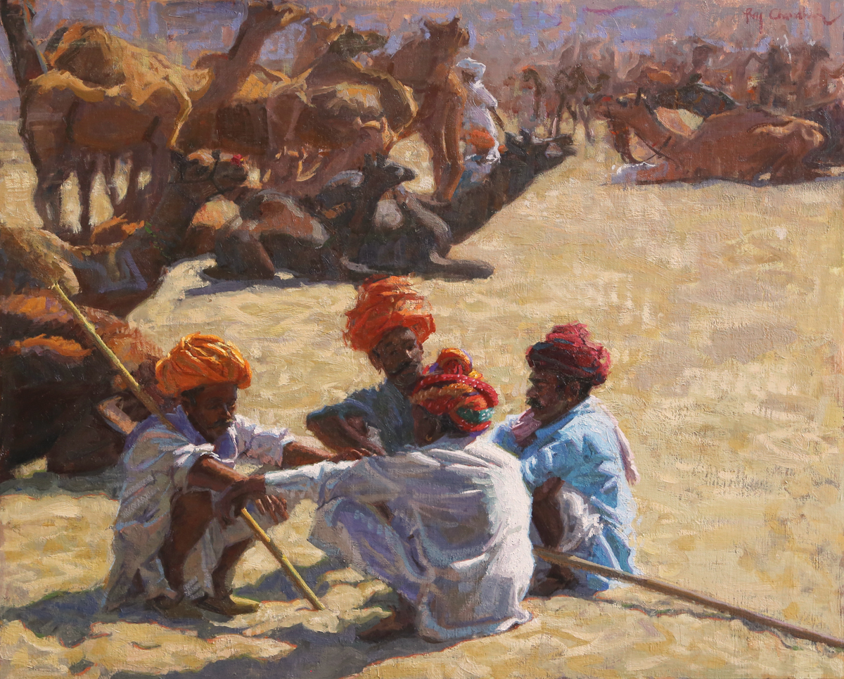Camel-Trader-Series---Negotiations-20x24-2800
